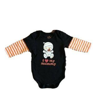 Halloween Infant BodySuit I Love My Mummy